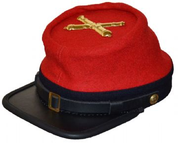 Confederate 1862 Regulation Artillery Kepi With Badge
